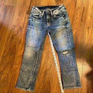 Silver Elyse Capris Jeans